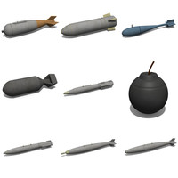 bombs 3d dxf
