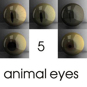 3d animal eyes