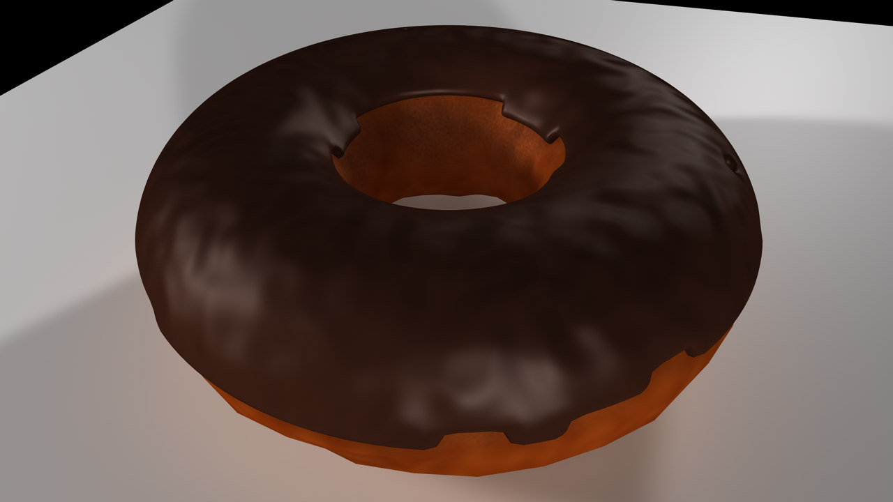 cinema4d chocolate donut