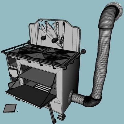 cooker chain 3d c4d