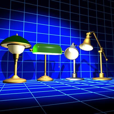 3d model desk lamp 01 globe
