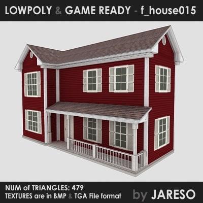 3dsmax family - f house015