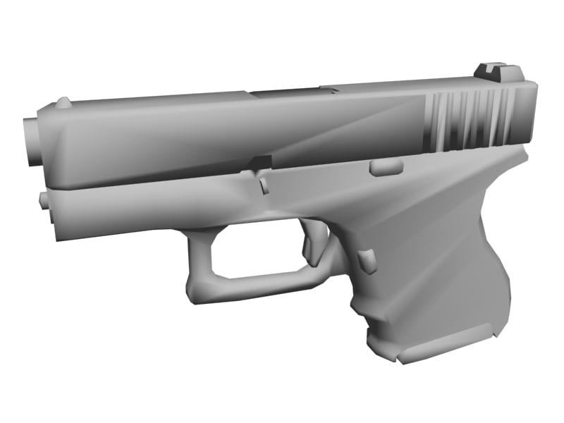 glock pistol 3d 3ds