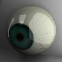 green human eye dxf