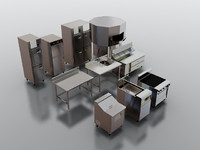3d model commercial kitchen oven