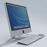 imac computer 3d model