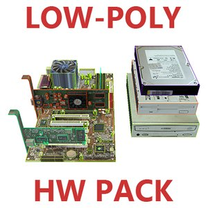 3d computer hardware pack