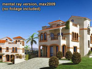 mediterranean villas 3d max