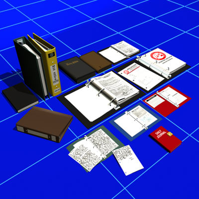 obj notebook binder 01 book