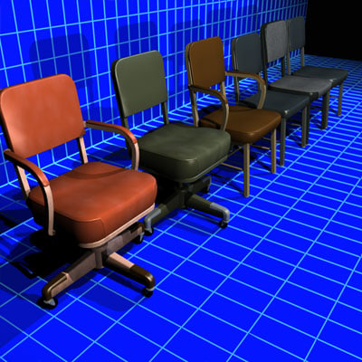 office chairs vintage 01 3d model