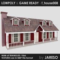 Lowpoly family house - f_house008.rar