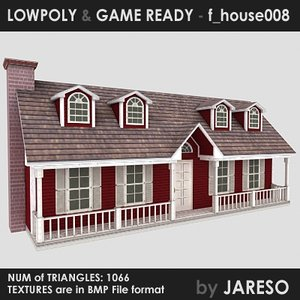 family - f house008 3d 3ds