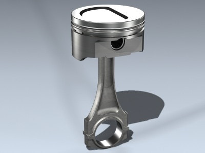 3d piston combustion engine model