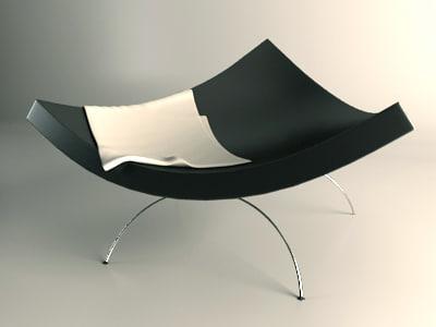 plastic designer chair 3d model