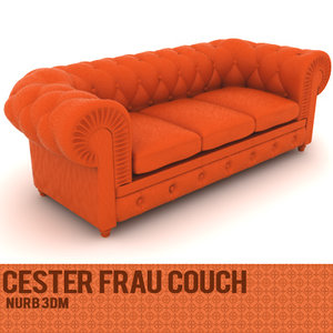 3d model chester frau couch
