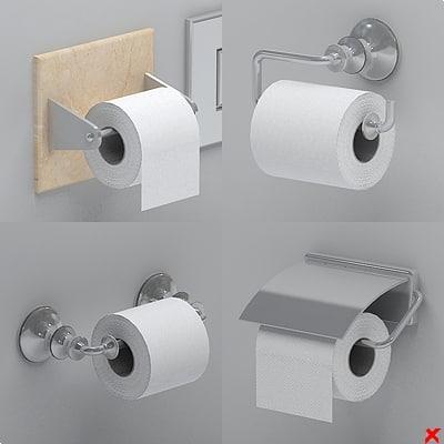 3dsmax toilet paper holder