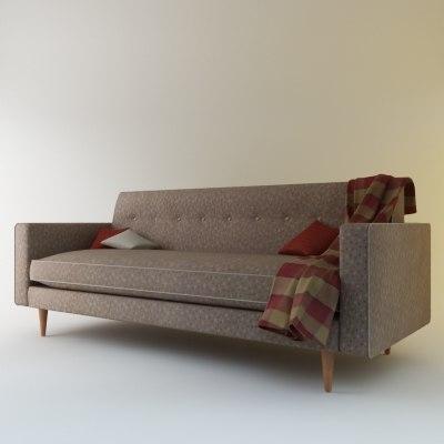 3d model bantam sofa