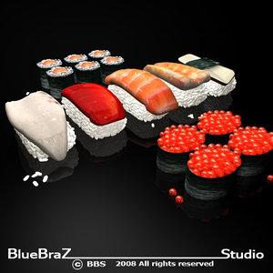 sushi food 3d model
