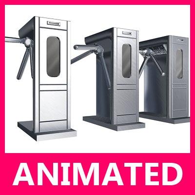 maya loop turnstile turning animation
