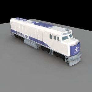 3d metrolink train southern