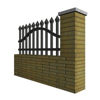 fence materials 3d 3ds