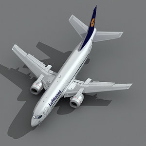 3d model 737-300 lufthansa