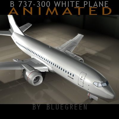 3d model 737-300 plane