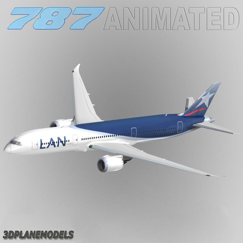 b787-9 lan chile airlines 3d 3ds