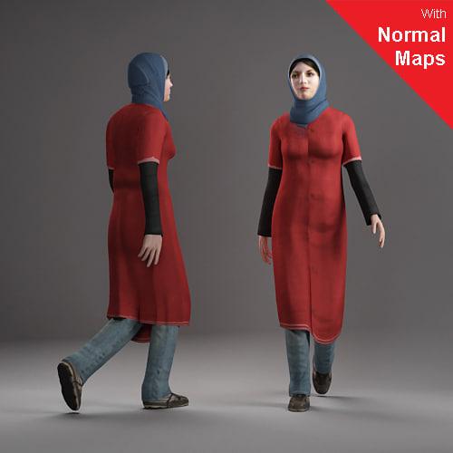 axyz human 3d 3ds