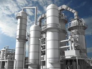 refinery unit 1 3d model