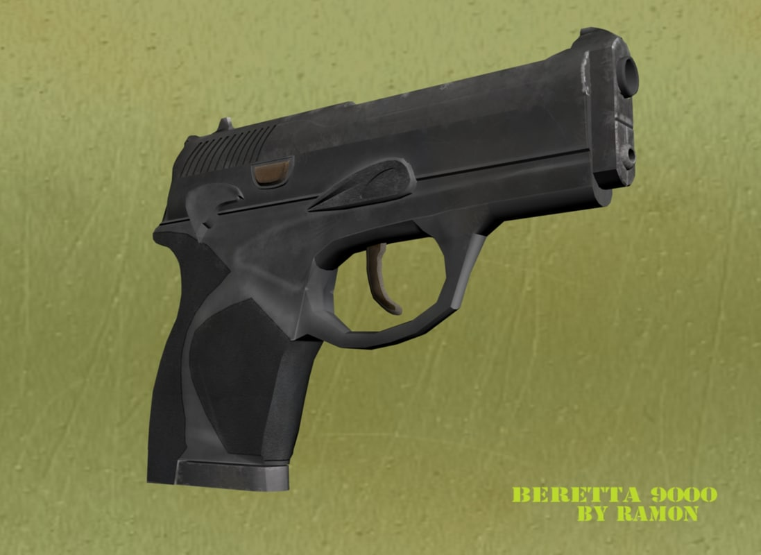 3d model of beretta 9000 package