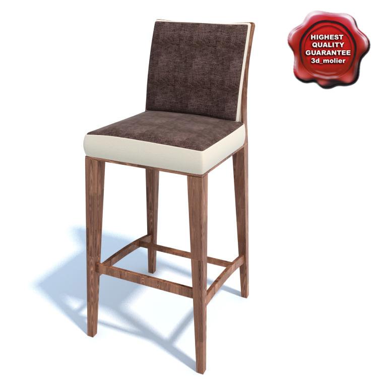 3d model bar chair
