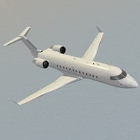 3d challenger 850 private business jet model