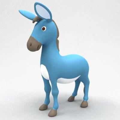 3d model donkey