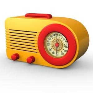 retro radio vintage iconic 3d c4d