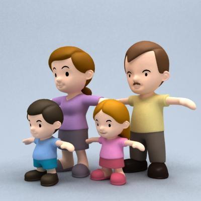 family cartoon 3ds