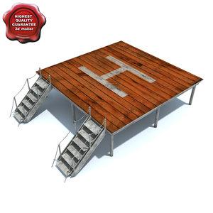helicopter platform 3d model
