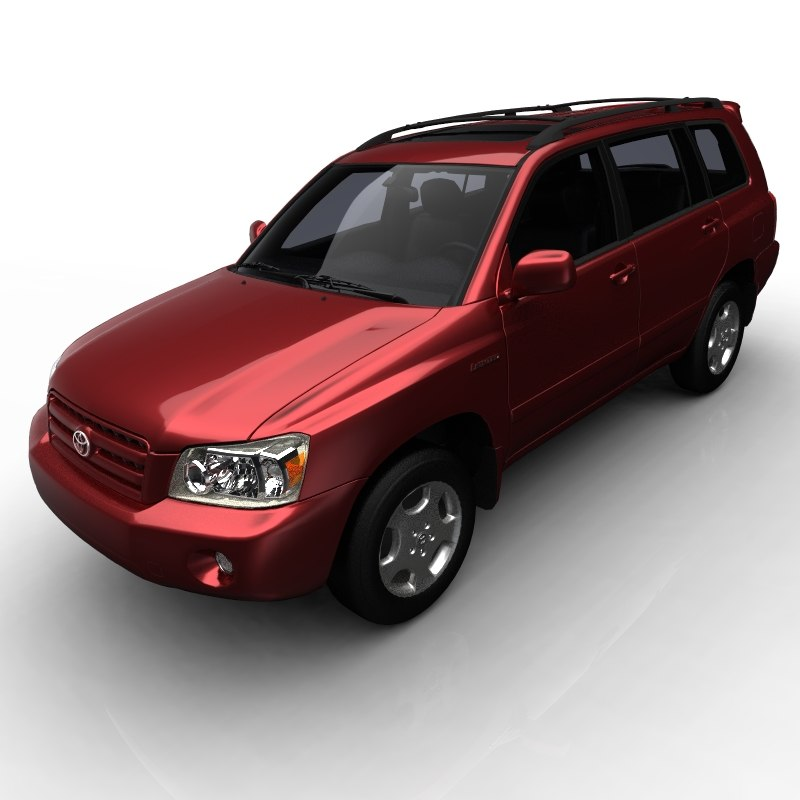 3d model toyota highlander limited car