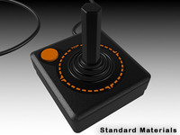 3d model atari joystick