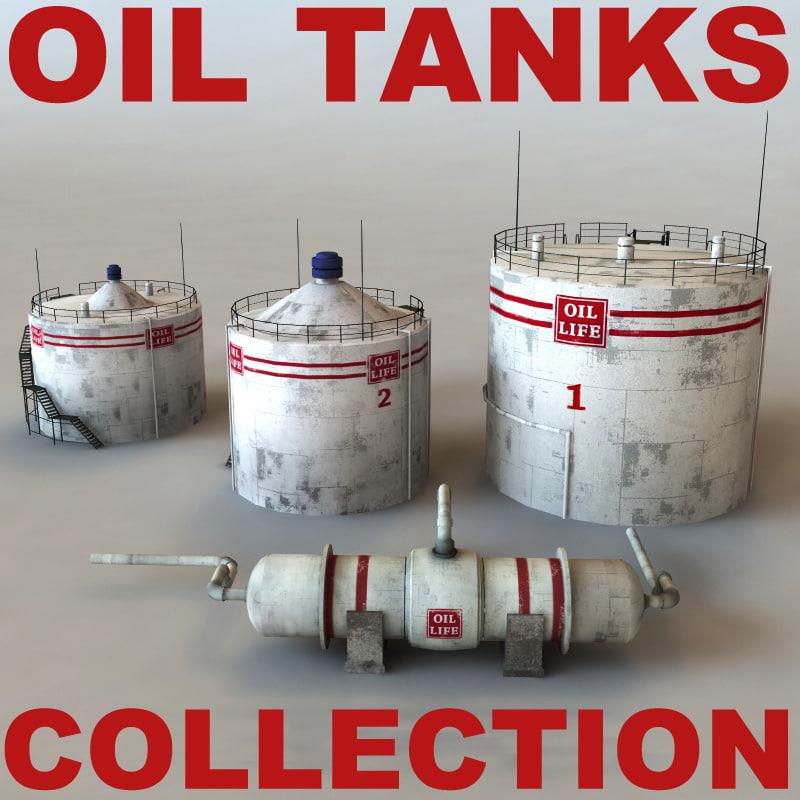 oil tanks 3d model