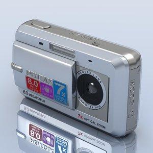 3d model pentax optio z10 photocamera