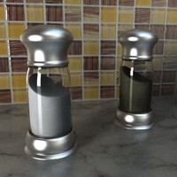 3ds salt pepper shaker set