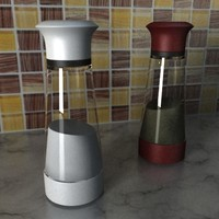 3ds max salt pepper shaker set