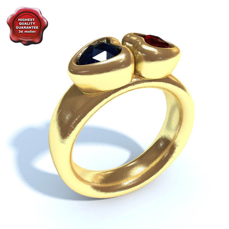 3d ring modelled mesh
