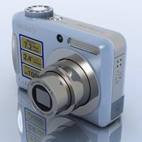 3d model sony cybershot dsc-s700 camera