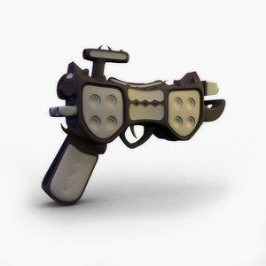 3d alien weapon model