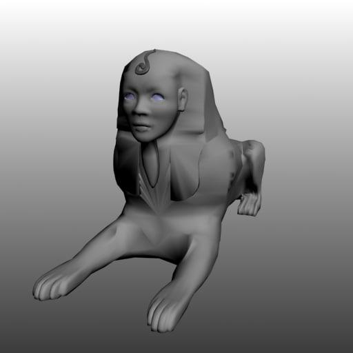 3d model statue sphinx