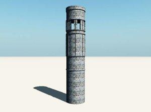 3d model castle turret