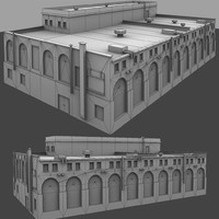 warehouse building 3d 3ds