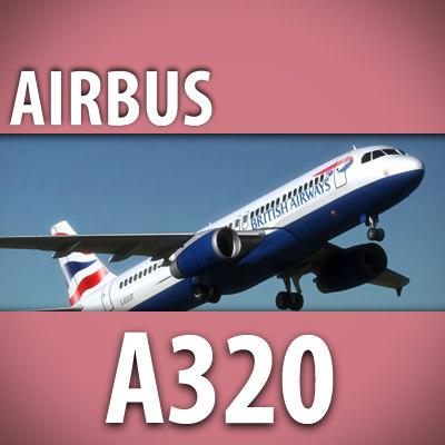 3d model of airbus a320 british airways